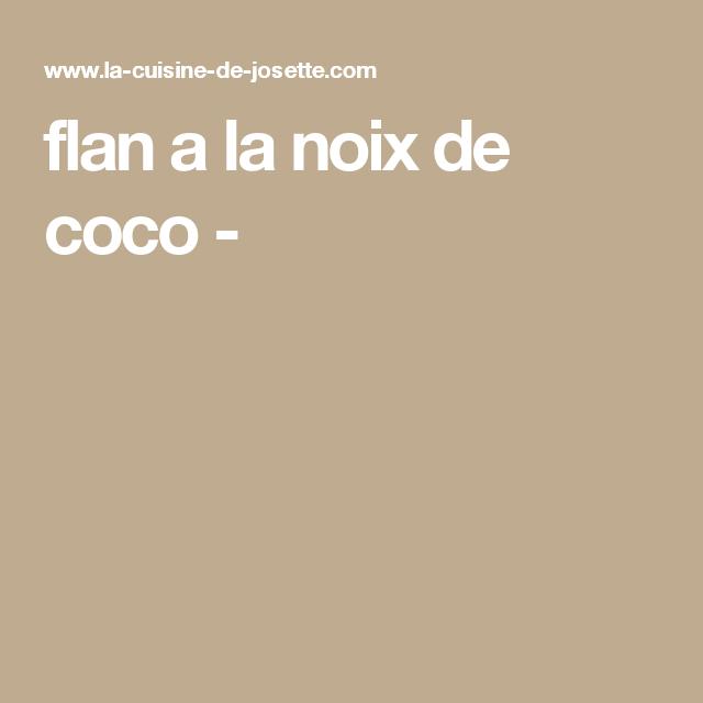 flan a la noix de coco -