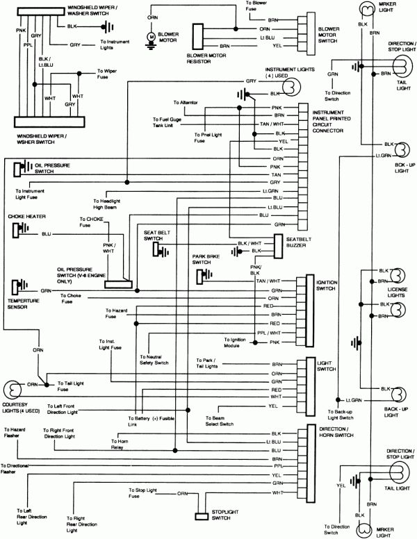 1989 Chevy Truck Steering Column Diagram And Repair Guides Chevy Trucks 1985 Chevy Truck 86 Chevy Truck
