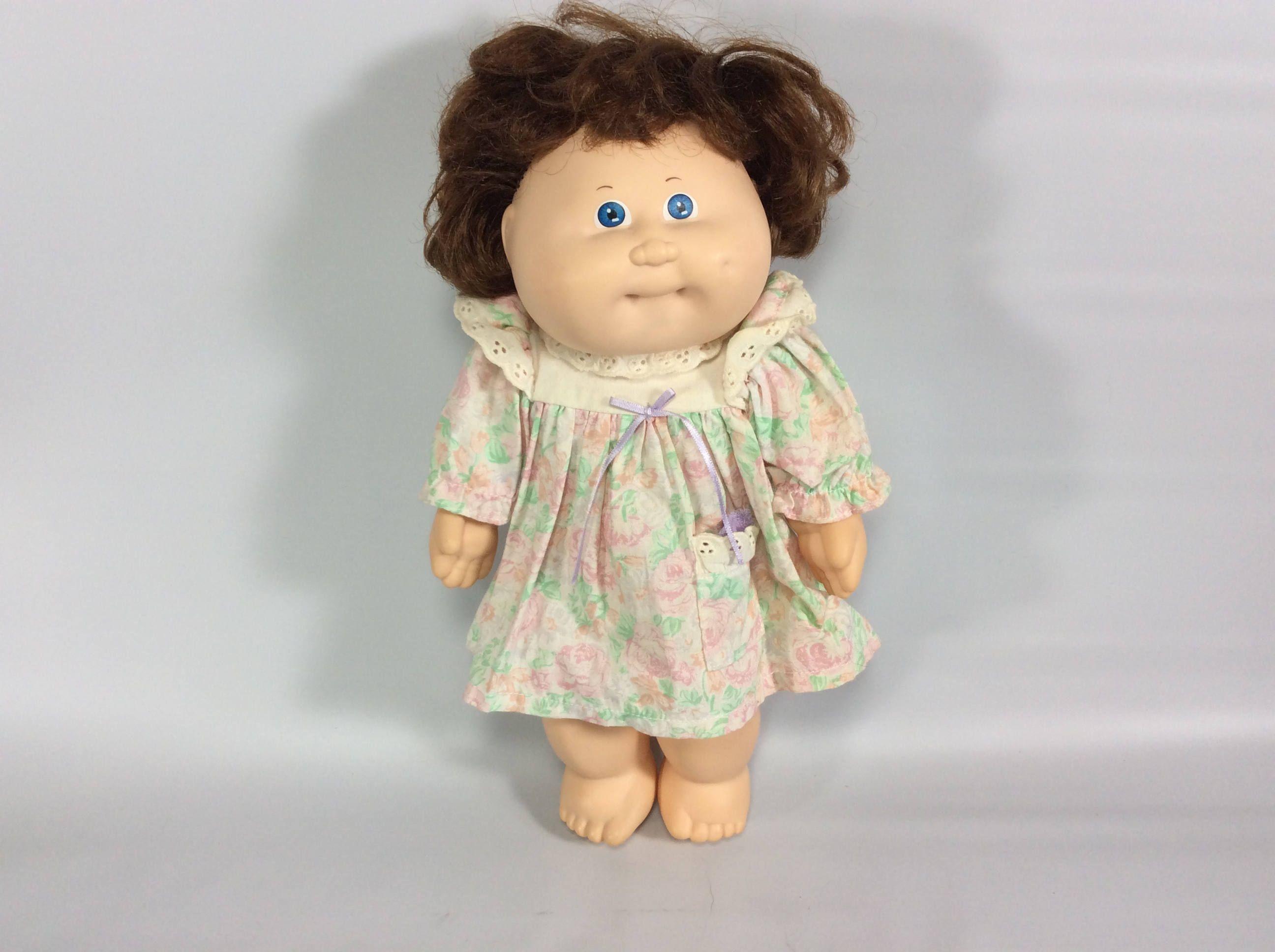 Cabbage Patch Kid Doll Vinyl Aqua Signature 1987 Girl Blue Etsy Cabbage Patch Kids Dolls Cabbage Patch Kids Brown Hair Blue Eyes