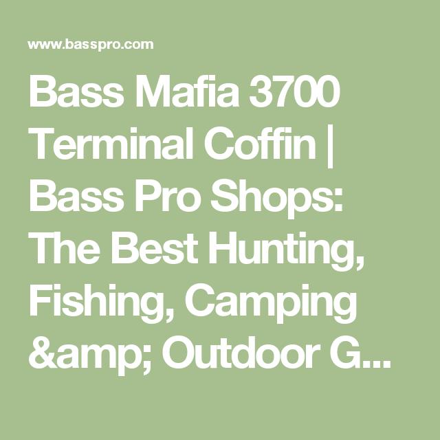Bass Mafia 3700 Terminal Coffin Fishing Tackle Camp Chef