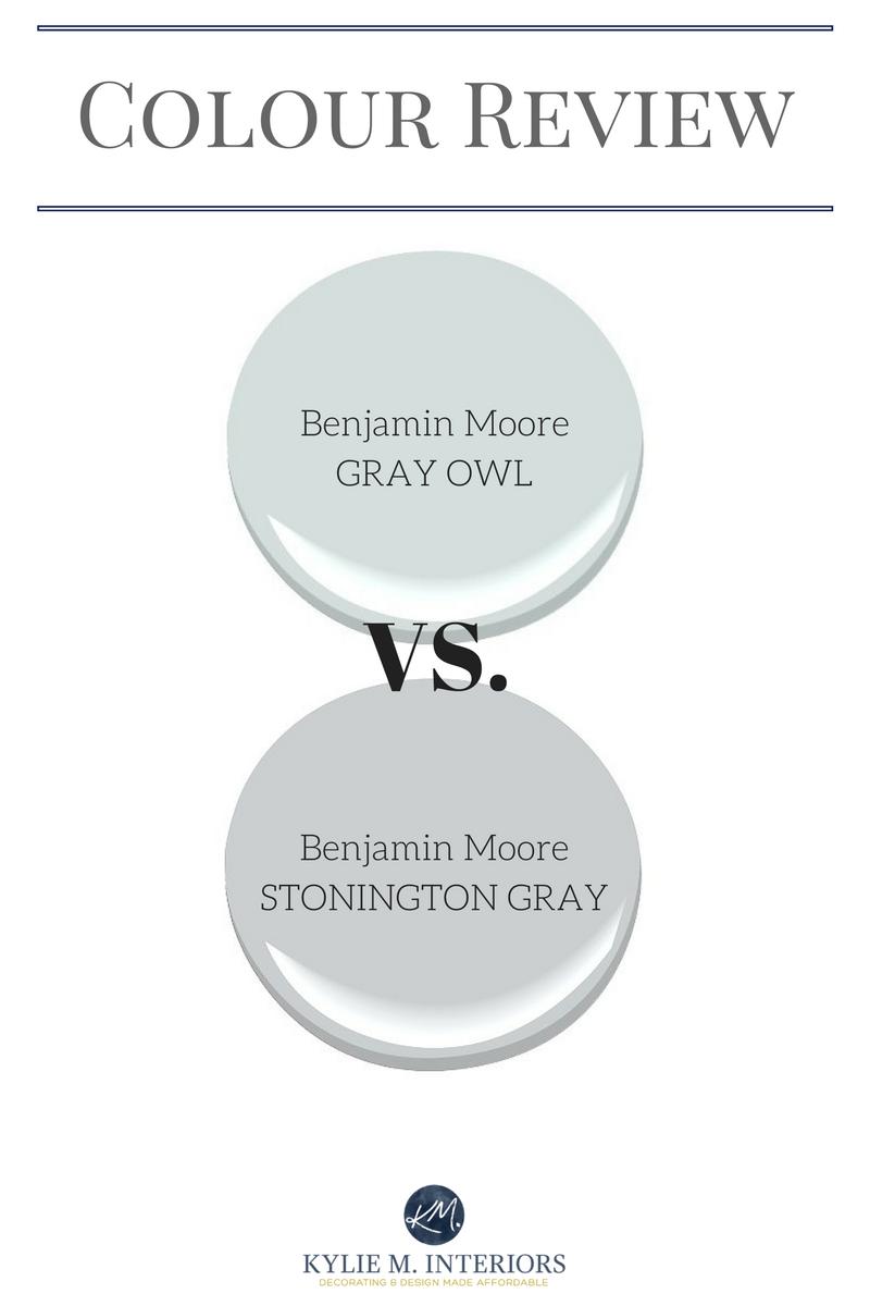 Benjamin Moore Gray Owl Vs Stonington Gray Comparing