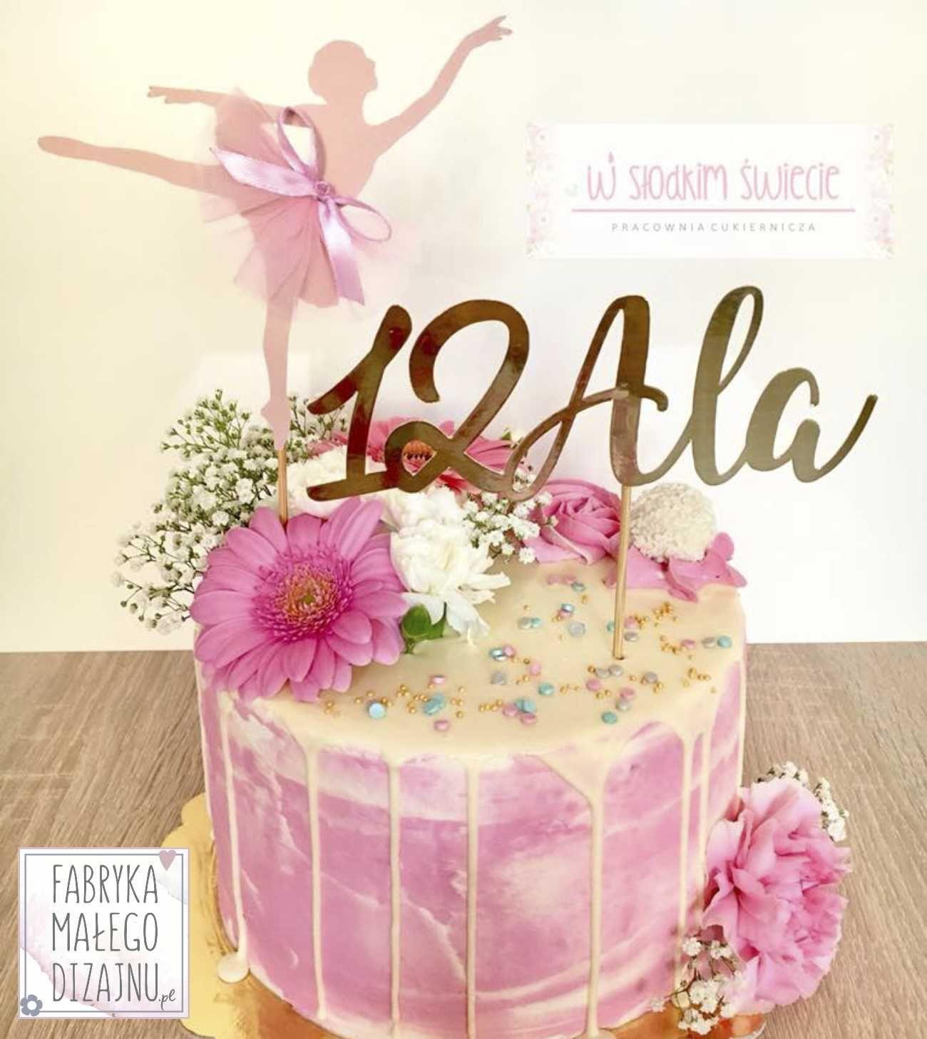 Topper Baletnica With Images Pomysly Urodzinowe Urodziny Tort