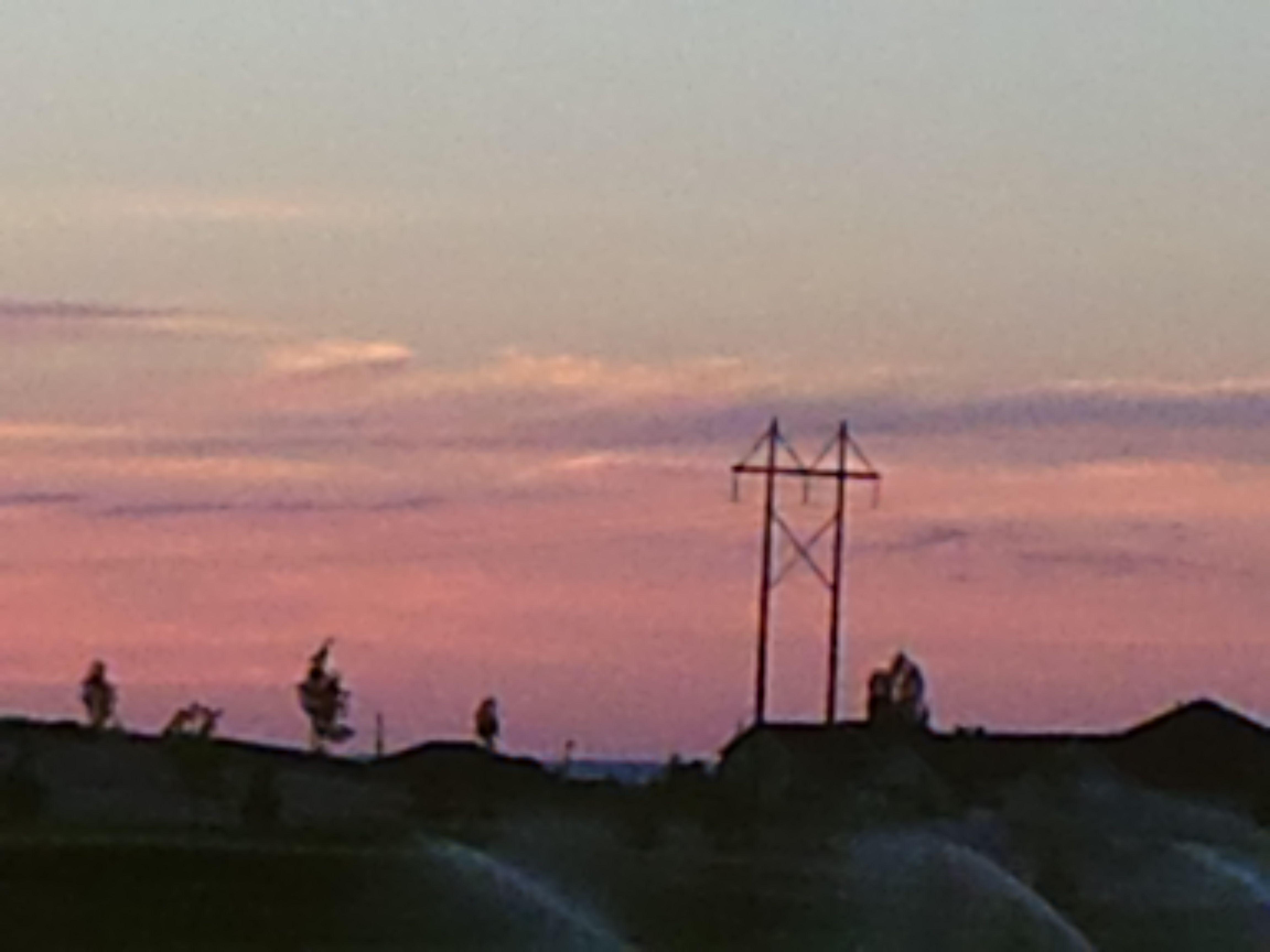 PT 29 NAMPA IDAHO. JUNE 15 SUNSET OVER A GOLF COURSE.