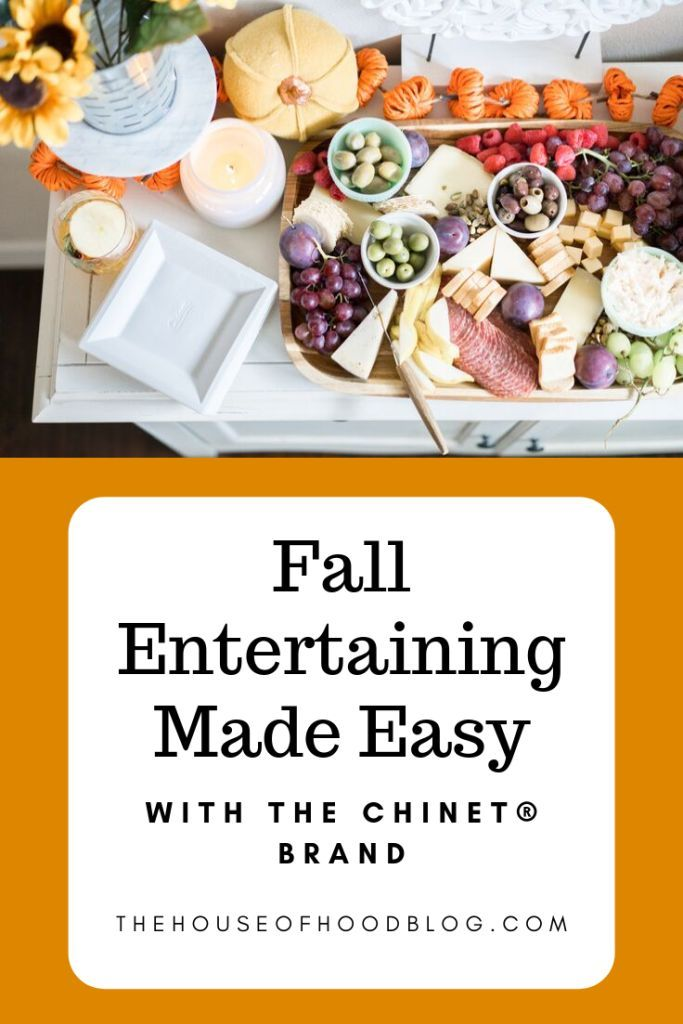 Easy Entertaining - A Fall Girlfriend Happy Hour Chelsee from The House of Hood Blog shares a super simple fall entertaining idea - fall girlfriend happy hour featuring Chinet brand products for easy clean up! We're also sharing a great apple cider sangria that is not too sweet and just the perfect amount of tartness!