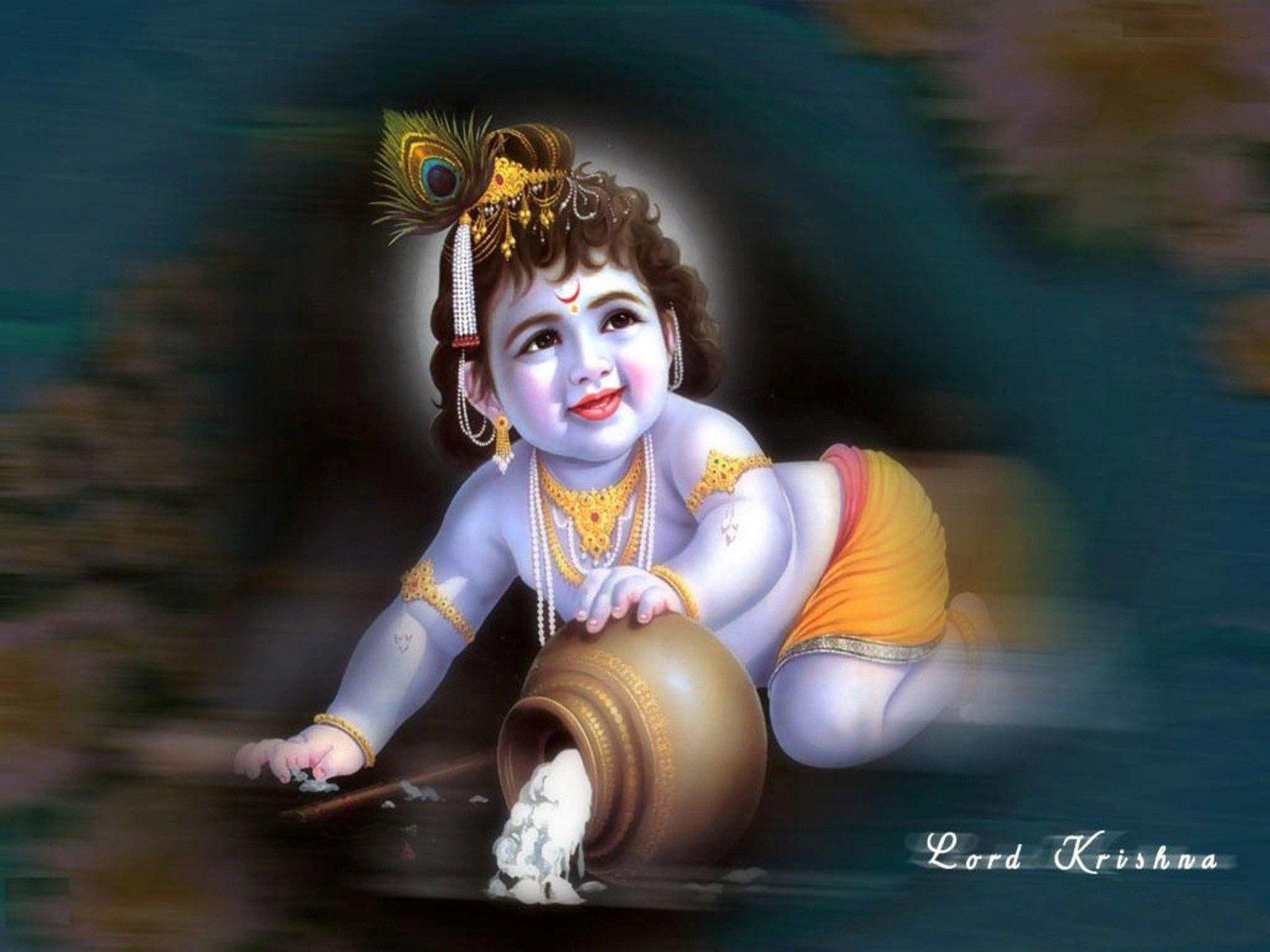 High Definition 1280x720 Baby Krishna Pic Google Search Krishna Wallpaper Lord Krishna Images Krishna Images