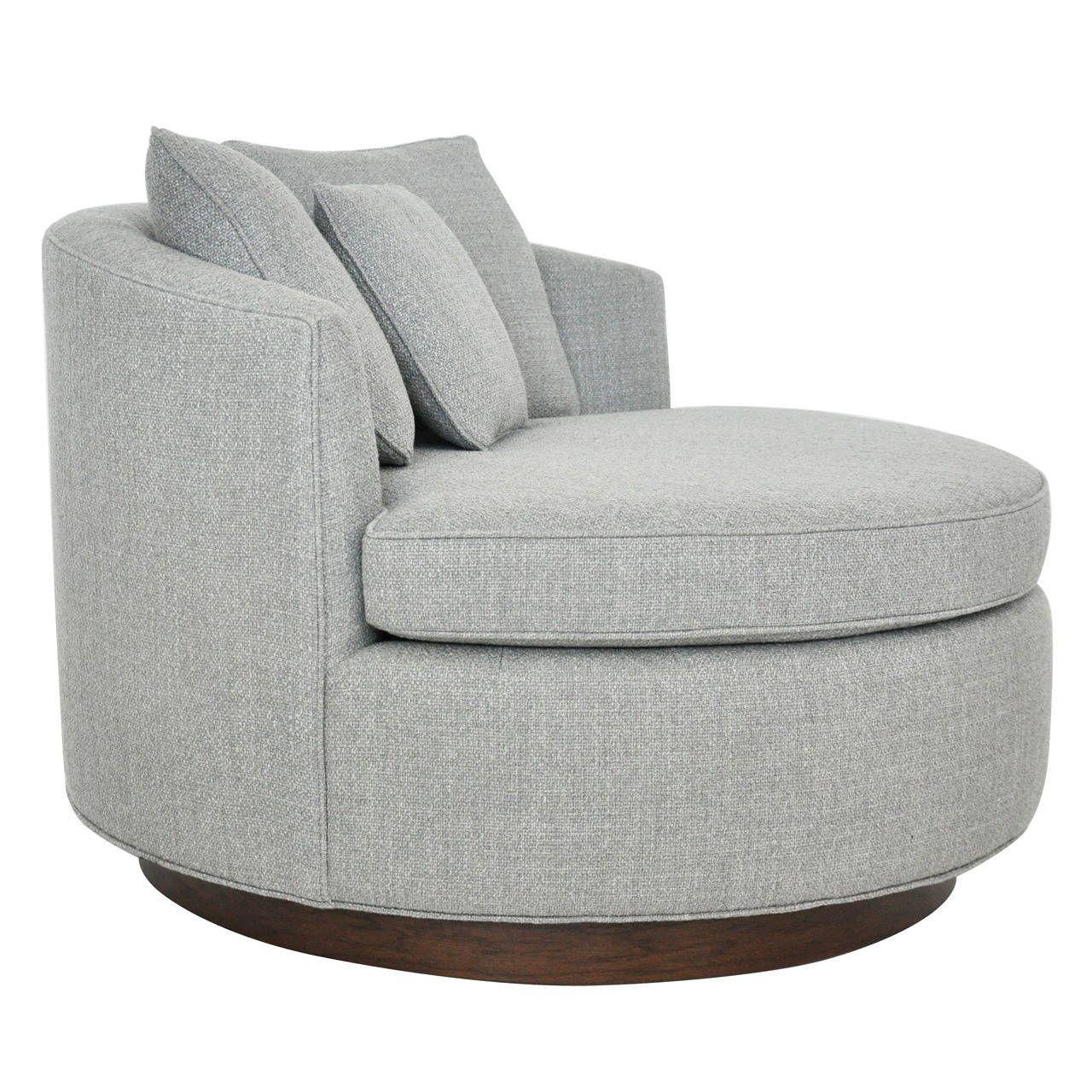 Large Milo Baughman Swivel Chair