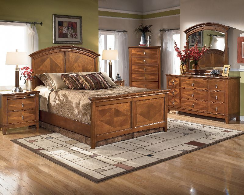 1 266 83 Ashley Furniture Conover Queen Panel Bedroom Suite The Beauty Of The Rich Finish And Exquisite Veneer Patterns Come Together To Bring To Life The E