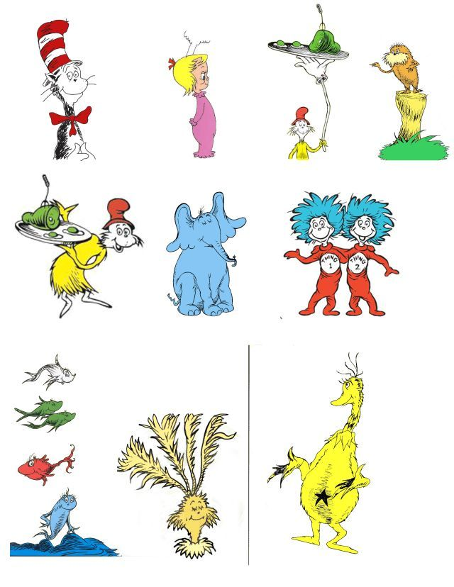 Free Dr Seuss Characters Birthdays Dr Seuss Week Dr Seuss