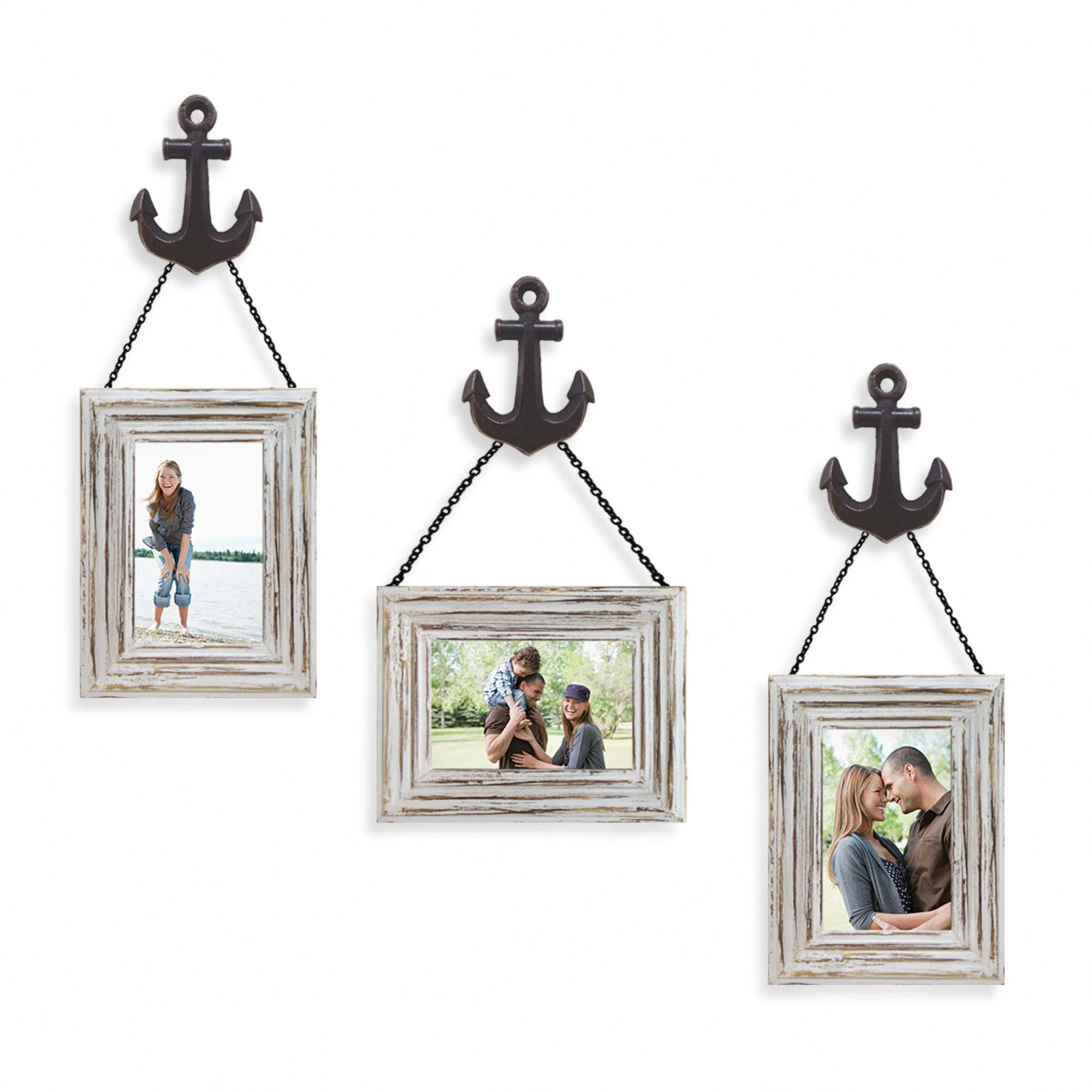 Photo of Wall Solution 6-Piece #Anchor Frame Set in White via Bed Bath and Beyond #nautic…