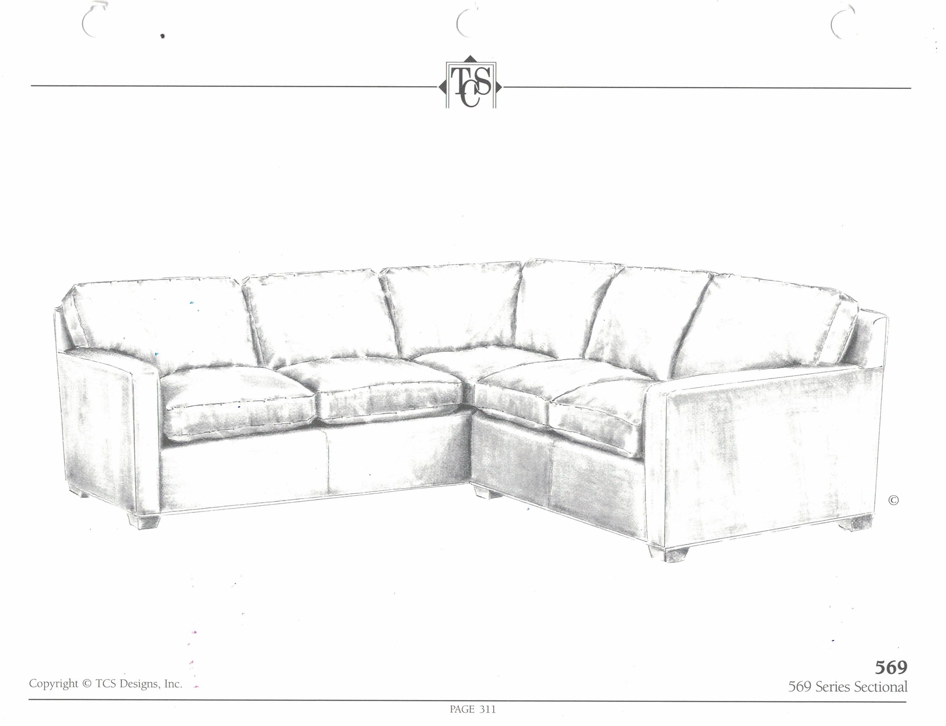 569 Sectional TCS Designs Actual configuration of sectional