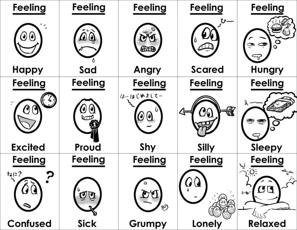 adult Feeling Faces Coloring Pages Smlf Feeling Emotions Sample ...
