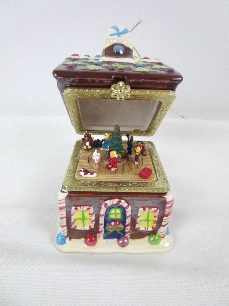 Ring in a joyous season. From Mr. Christmas. New without box. | eBay! - Mr Christmas Gingerbread House Animated Music Box Ornament Plays