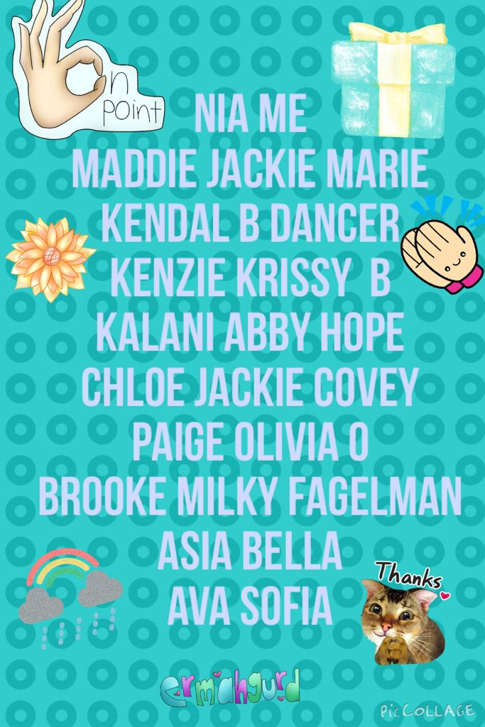 Is this right @jmk924 @jackiecovey0959 @BriDancer123 @bellagordo @missmols20 sorry it says milky  @BeautyByAbby02 @Sofia please post headshot,follow,and accept invite