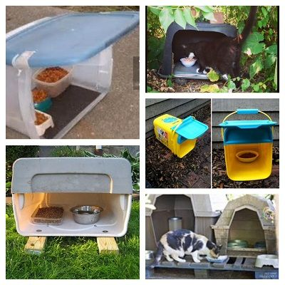 Several More Easy Feeding Station Ideas Outdoor Cat Shelter Outdoor Cat House Feral Cat Shelter