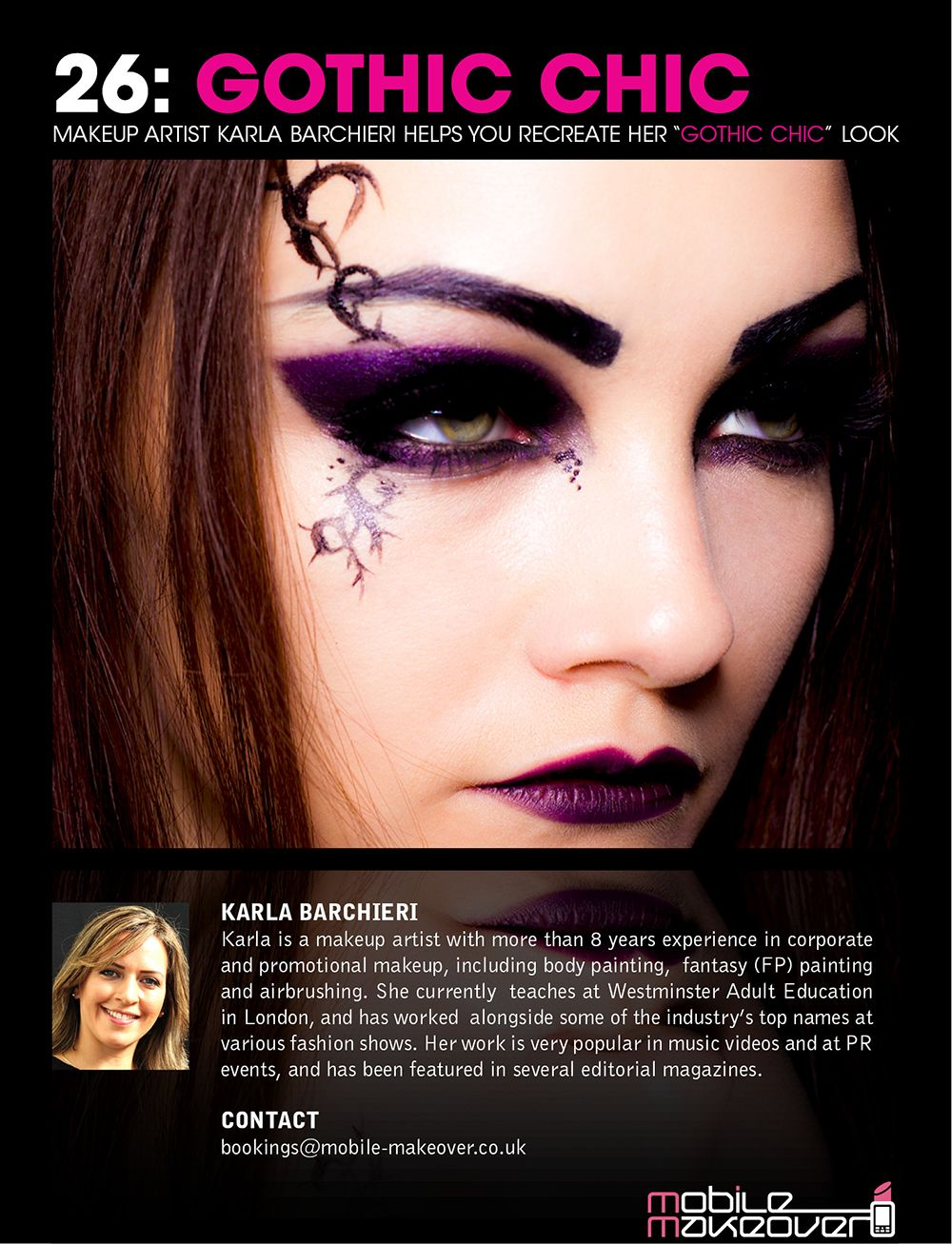 Gothic chic cover makeup tutorial the complete step by step look makeup tutorial the complete step by step look is baditri Choice Image