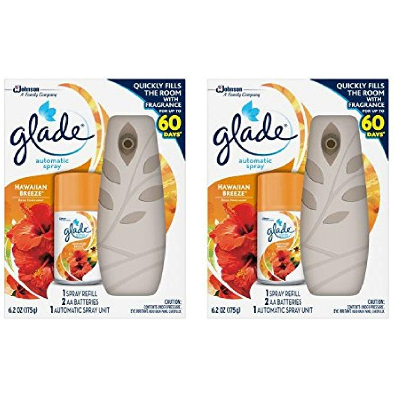 Glade Automatic Spray Air Freshener Starter Kit, Hawaiian