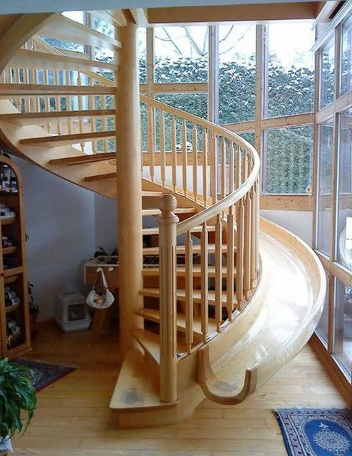 Stairs/slide. Yes. I Think I Might Change My Whole Dream House Design