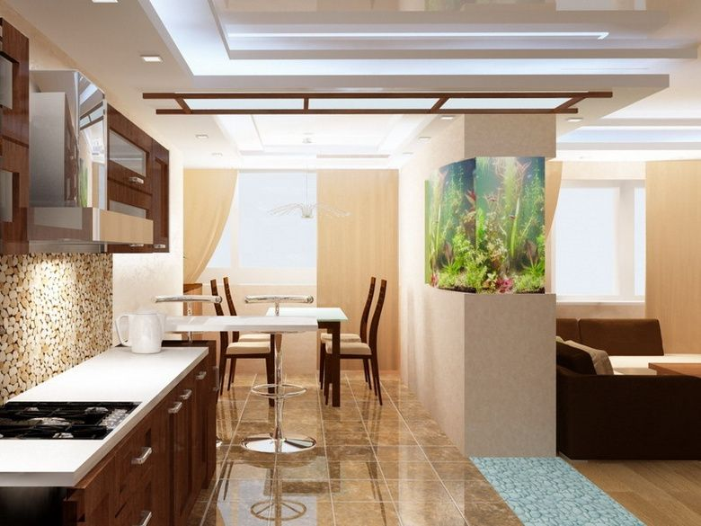 Кухня совмещенная с гостиной дизайн проект