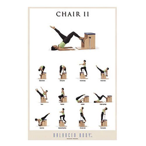 Exercise poster chair ii balanced body for Chair workouts