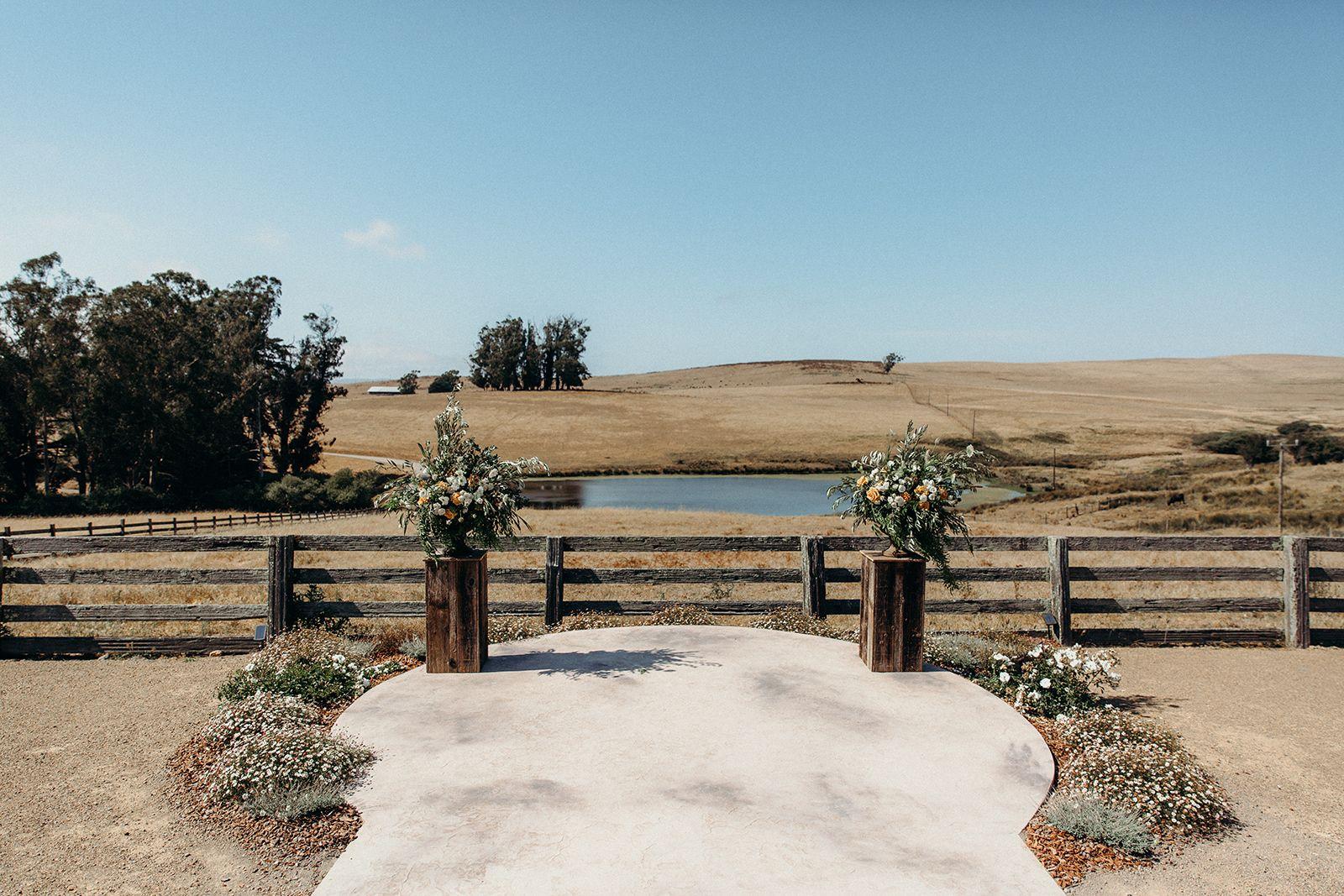 Destination wedding barn in northern california near