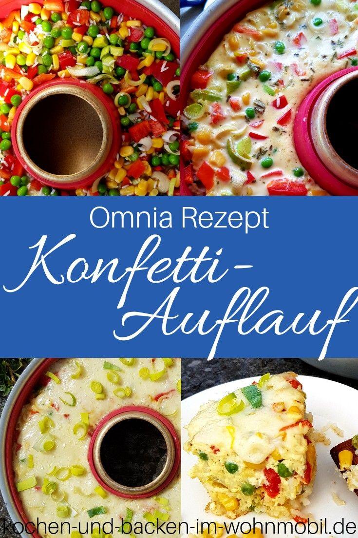Bunter Konfettiauflauf als Reisauflauf mit Gemüse aus dem Omnia Ofen › kochen-und-backen-im-wohnmobil.de