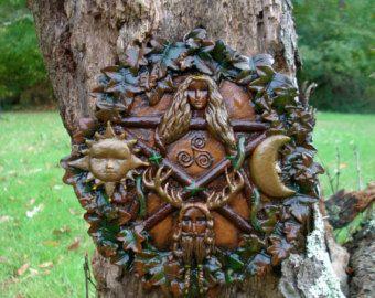 Pagan Plaque Fairy Garden Spiritual Ritual unique garden gifts
