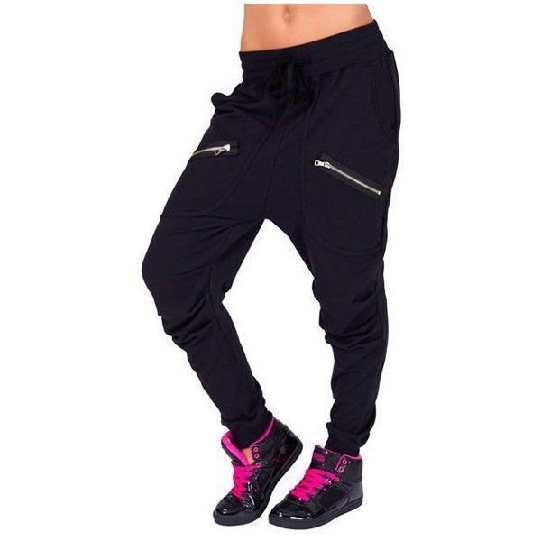 Adult Multi Zipper Harem Pant ❤ liked on Polyvore featuring pants, zip pants, blue trousers, blue pants, zipper pants and harem trousers
