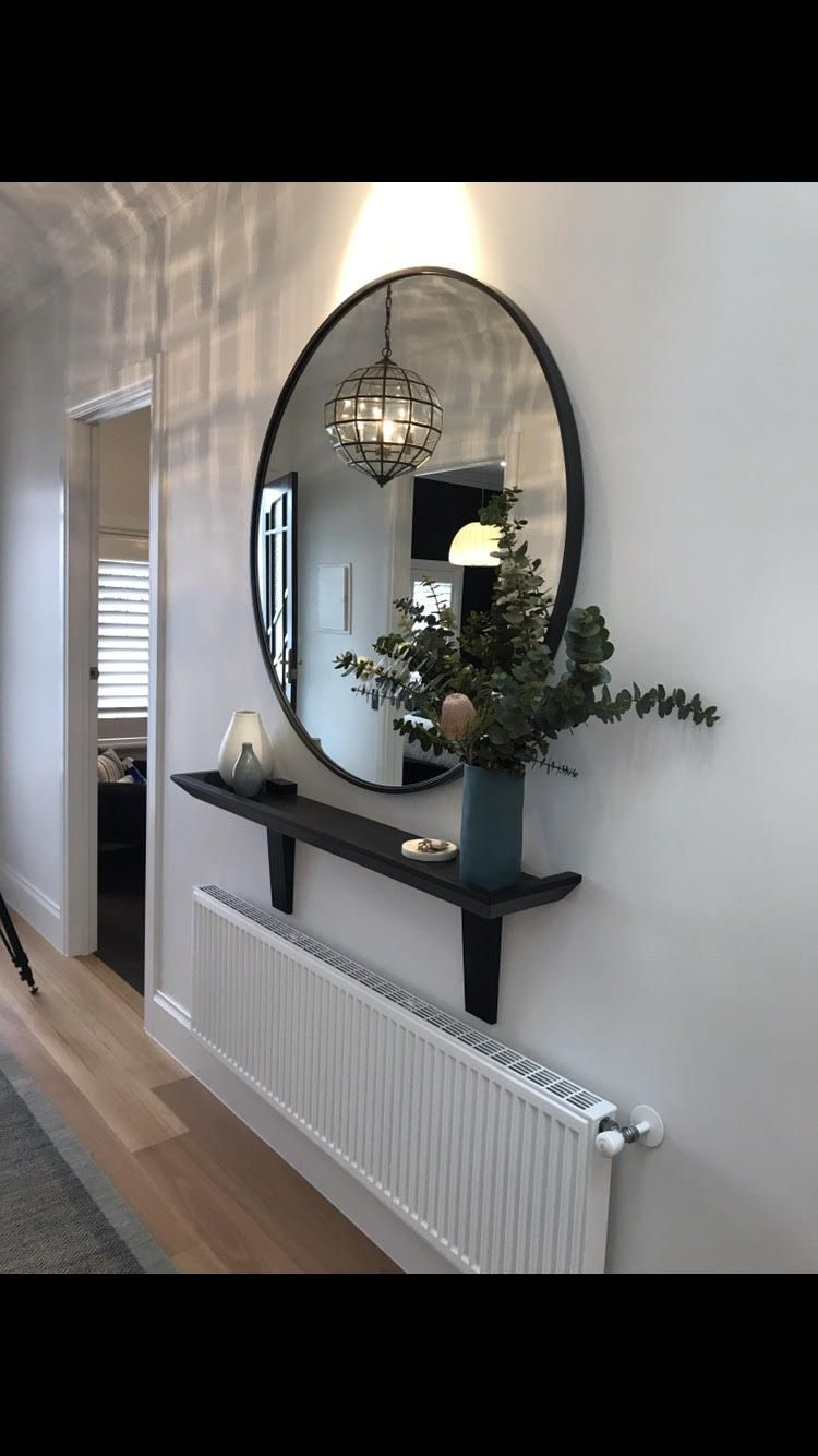 Blackened Oak Hall Stand Made from solid American oak with a matte black lacquer finish As seen in Jason  Sarahs Entrance Hallway in The Block 2017 There is one detail th...