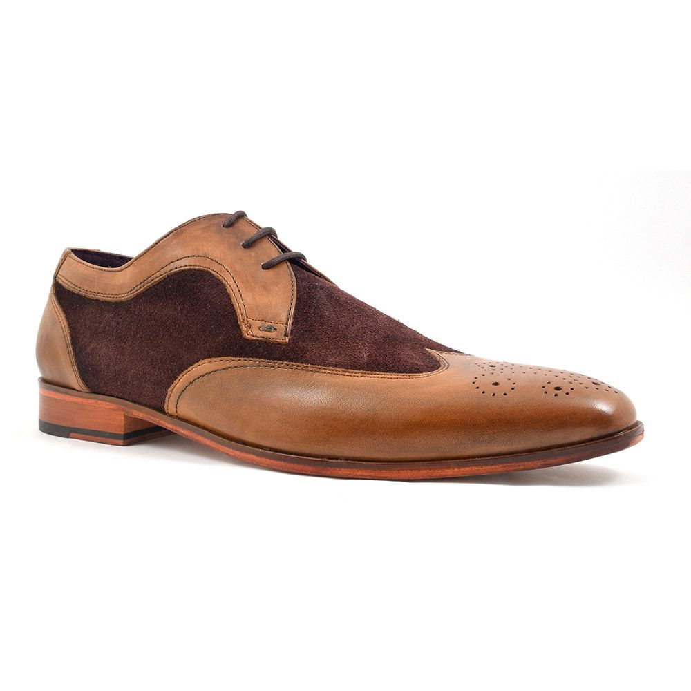 5551546d4fe4d4 Find mens Two Tone Brown Suede Derby shoes for an original look. Leather  sole and free UK delivery at £89.95