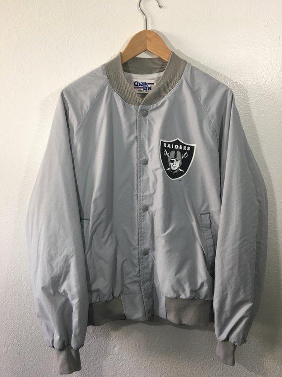 f9fe11ab Vintage 80s Los Angeles Raiders Chalkline Varsity Bomber Jacket ...