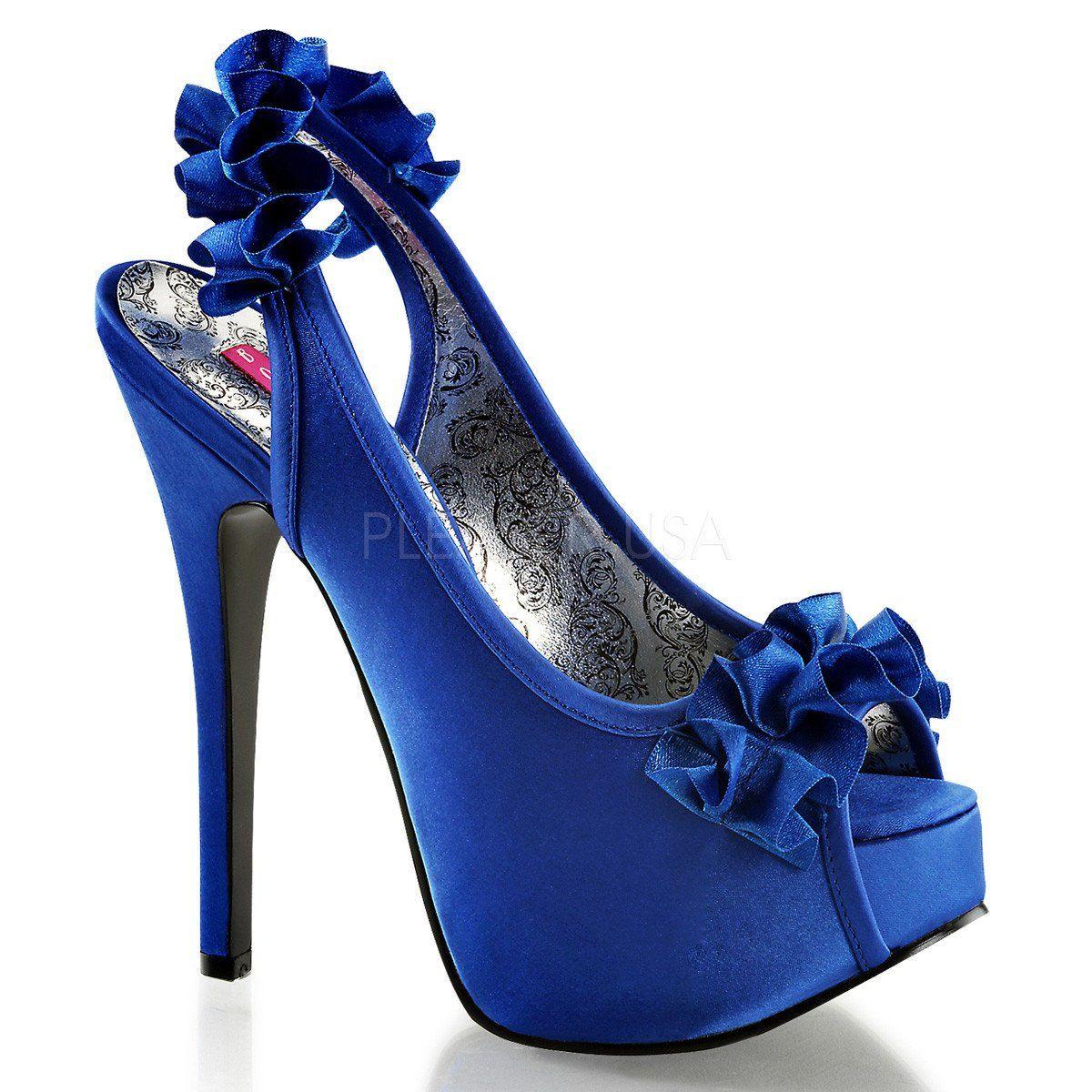 Bordello teeze navy blue satin shoes shoe pinterest