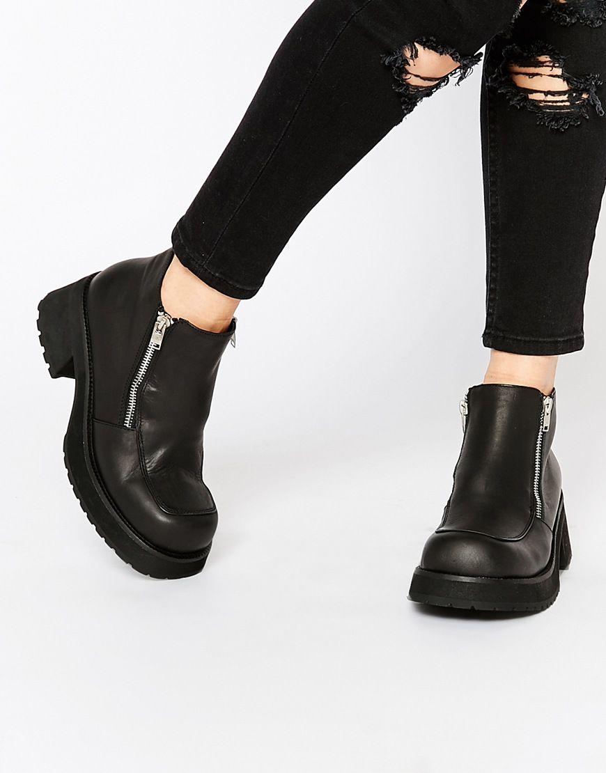 Buy Women Shoes / Unif Dusk Zip Ankle Boots