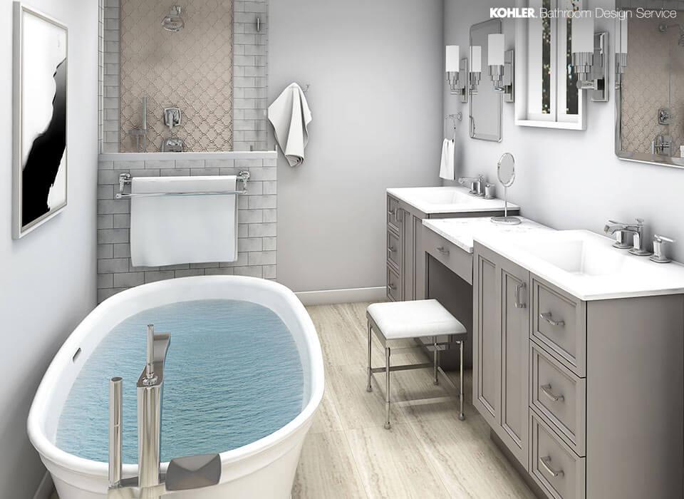 kohler bathroom design service  personalized bathroom