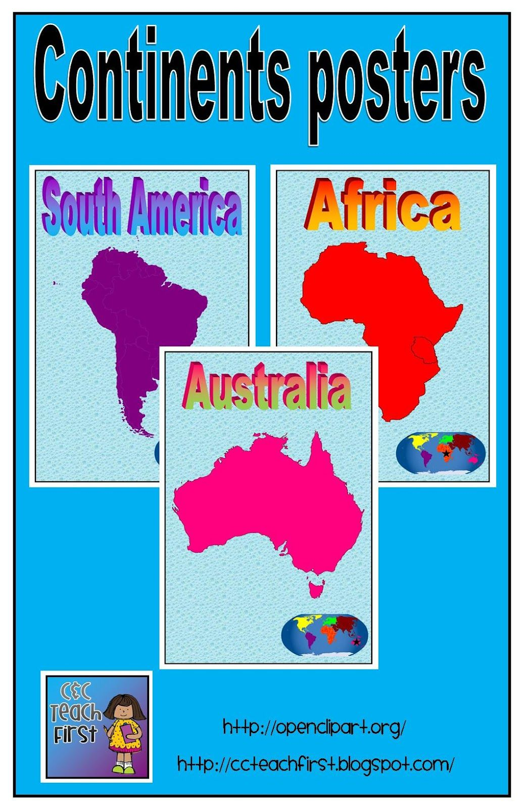 The 7 Continents Posters