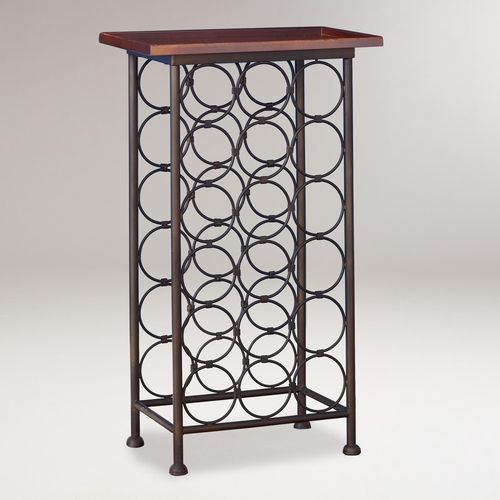 18 bottle wood top wine rack from cost plus world market on shop catalogspree com your personal digital mall