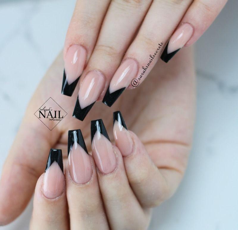 V Shaped Smile Lines Lines On Nails Nails Gold Nail Art
