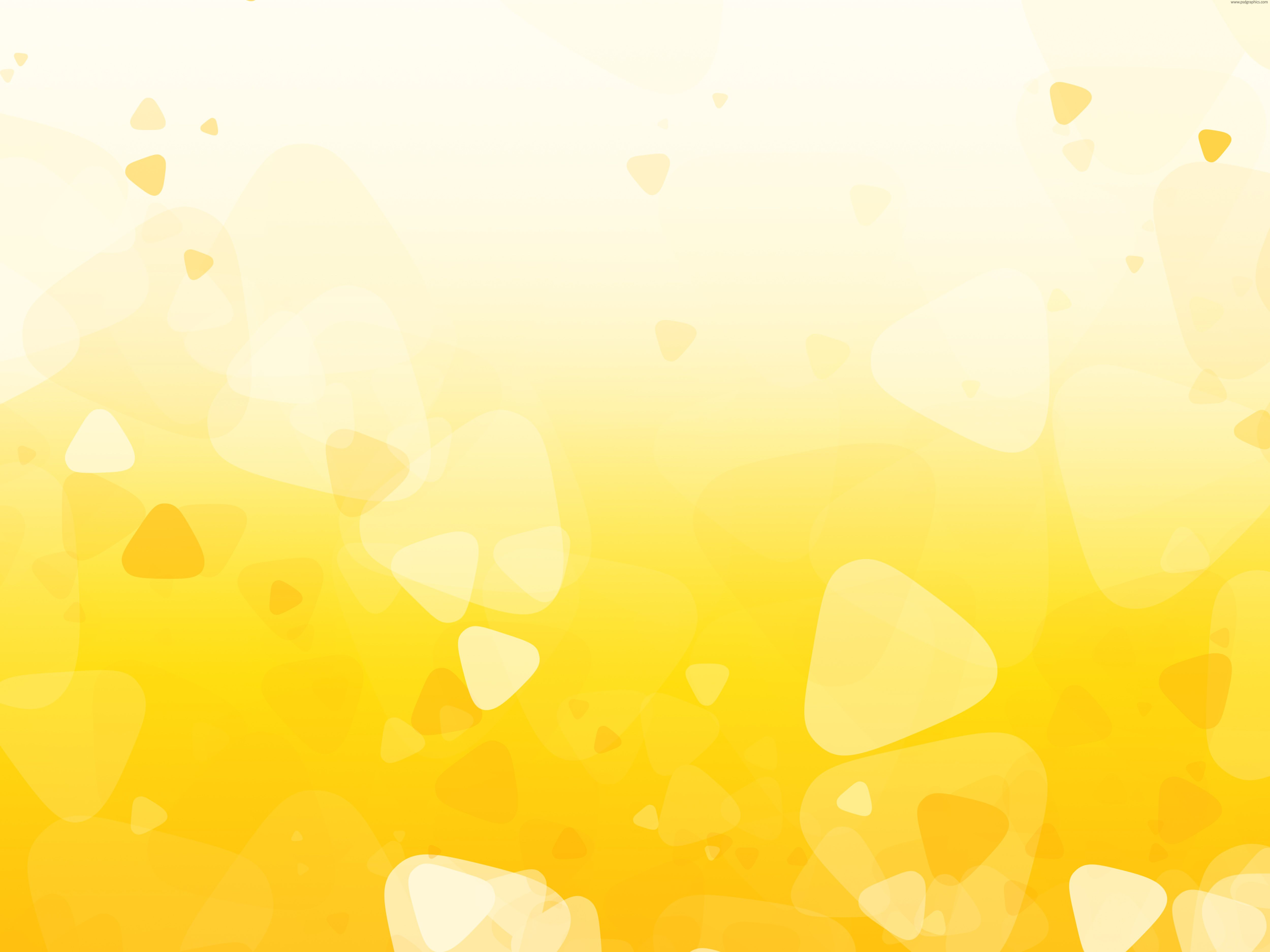 Yellow shapes background. Yellow background, Cute