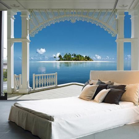 Brewster home fashions ideal decor a perfect day wall mural