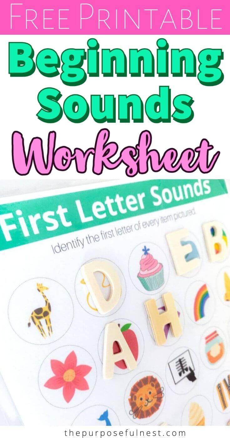 Beginning Sound Worksheet Beginning Sounds Worksheets Beginning Sounds Free Phonics Printables [ 1400 x 735 Pixel ]