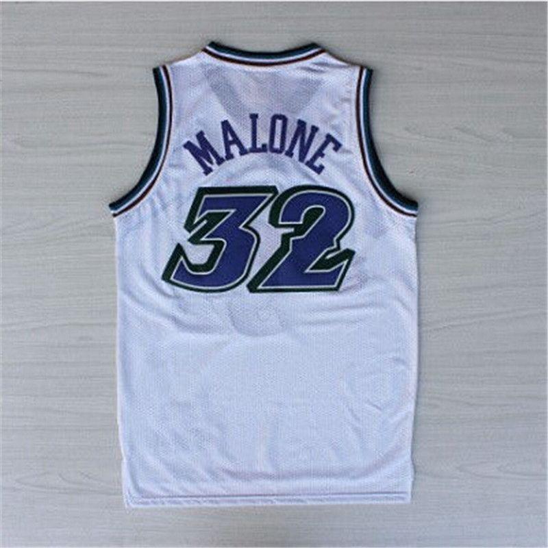High Quality  12 John Stockton Jersey Stitched Wholesale cheap  32 Karl  Malone Jersey Black throwback Basketball Jersey-007 12e453ff6