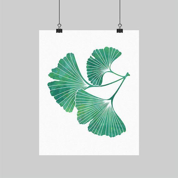 digital printable artwork ginkgo leaf wall art gingko ginko print