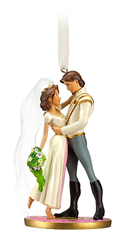 Tangled Ever After Flynn Rider and Rapunzel Wedding Ornament