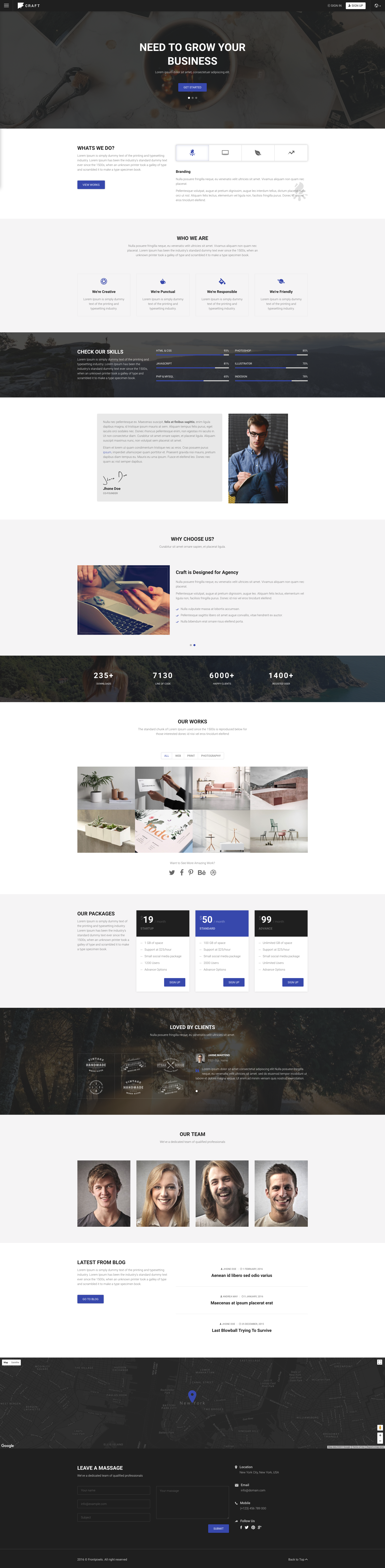 Craft - Responsive Material Design HTML Template. It is simple and ...