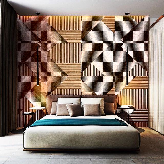 I Absolutely Love This Feature Timber Bed Head Wall!! And