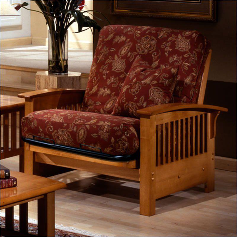 Bridgeport Single Futon Chair Bed   Golden Oak $219.00 ...