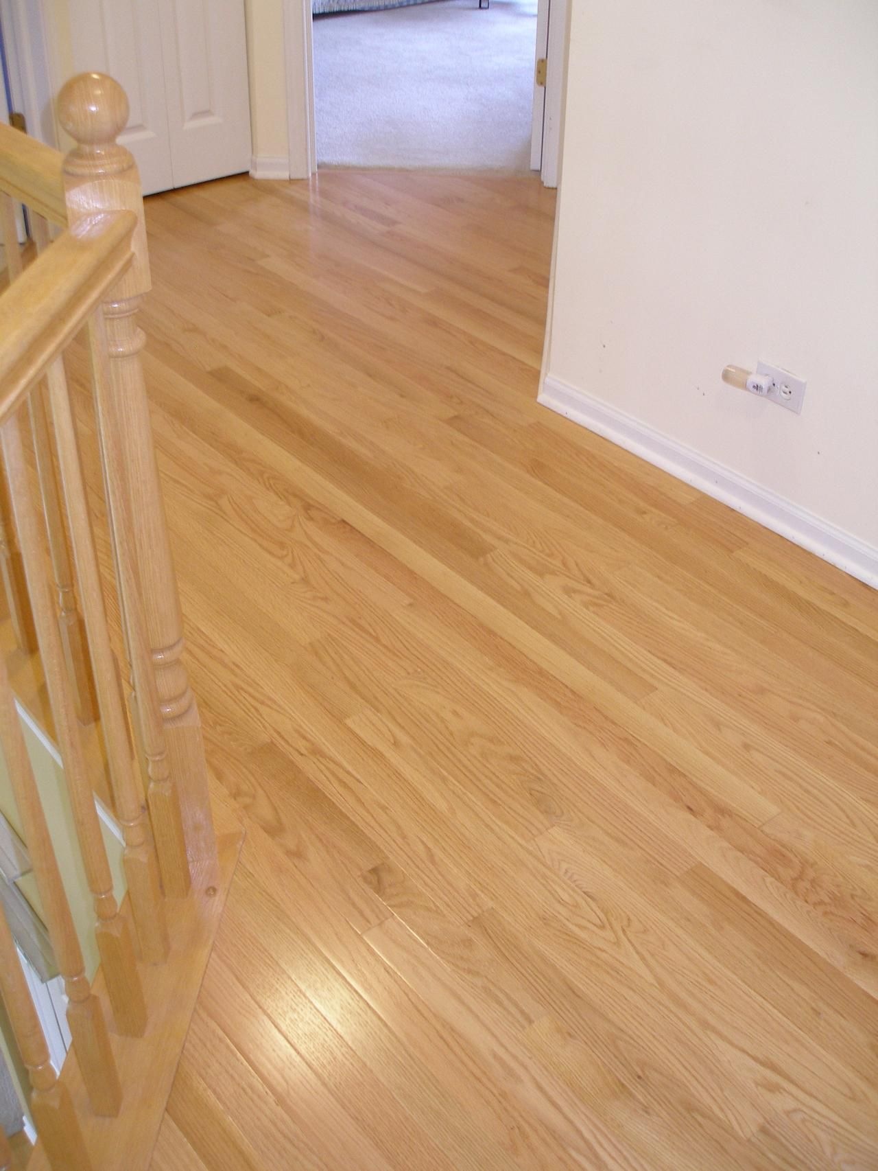 Wood Flooring White Trim Red Oak Flooring And Stairs Wood