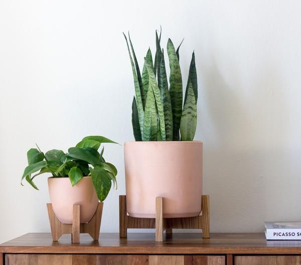 Modern Planter With Plant Stand Tabletop Bell In 2020 Modern Planters Modern Plant Stand Planters