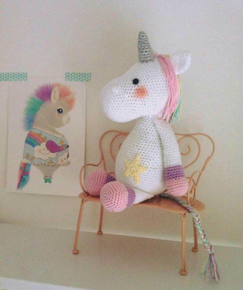 Lavender Unicorn Crochet Pattern ONLY not a finished product ... | 959x803