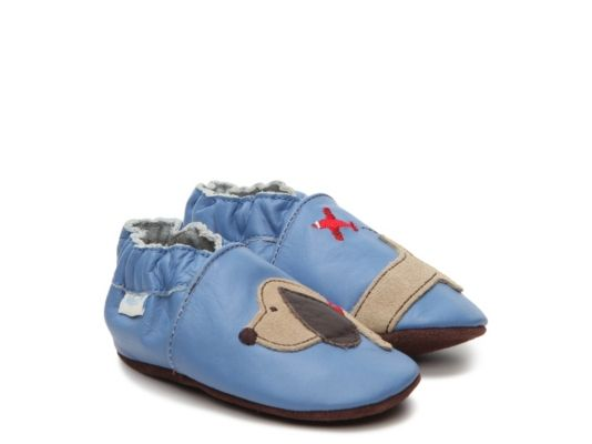 Men's Robeez  Dachshund Boys Infant & Toddler Slip-On Crib Shoe - Cobalt