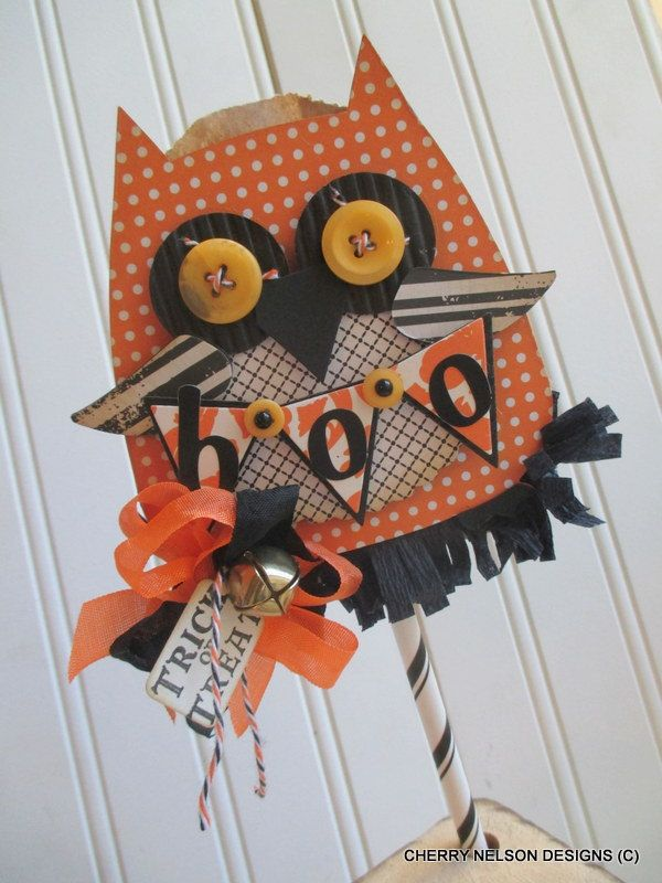 Halloween OWL WAND halloween CANDY treat by cherrysjubileecards - halloween candy treat ideas